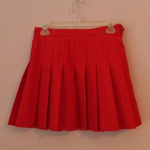 American Apparel red tennis skirt medium