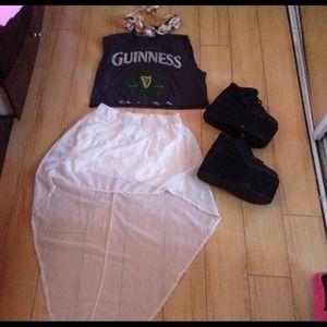 Brandy Melville Dresses & Skirts - Never worn brandy Melville high low skirt