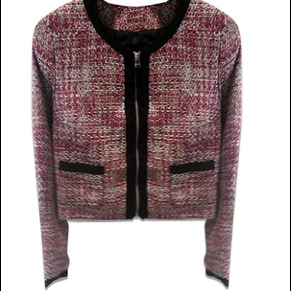 H&m Pink Tweed Jacket Blazer