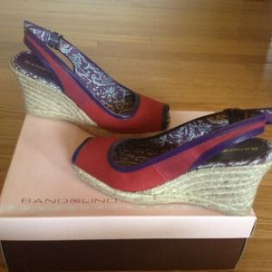 Bandolino Shoes - NEW Peep Toe Espadrille Wedges