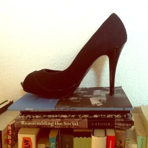 . Zara Black Peep toe