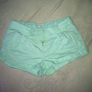 Mint/teal shorts