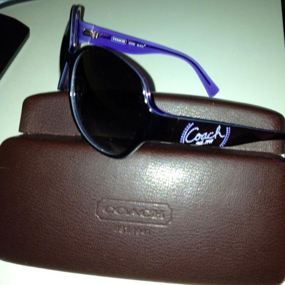 54d3b6cbf6af ... coupon code for coach sunglasses s2030 black violet plastic 69683 dc4c3