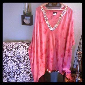 Bebe pink tie dye dress