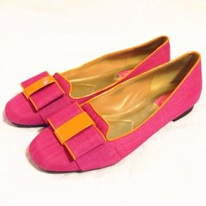 Isaac Mizrahi Shoes - Isaac Mizrahi Pink Tweed Smoking Flats