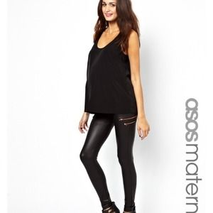 16d88056d452f ASOS Pants - ***SOLD***NWT Asos Maternity leather look leggings