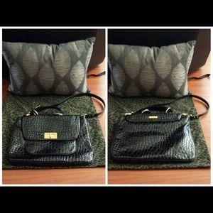 b9bac08317ba Rebecca Minkoff Bags - Rebecca Minkoff Black Croc Embossed Covet Bag