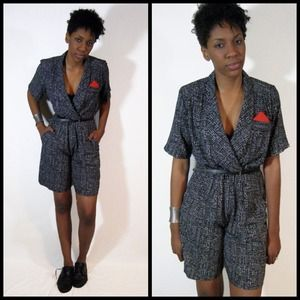 vintage 80s ladies romper