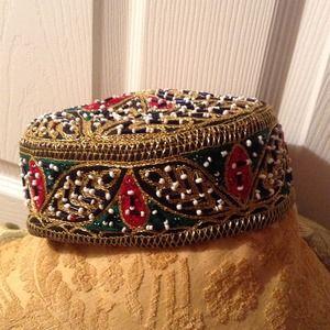 Vintage Don Kline Hat..Fez style..Gorgeous