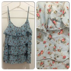 Forever 21 Tops - F21 floral tiered top