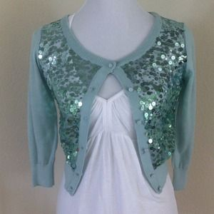 Sweaters - NEW Sequin Crop Cardigan
