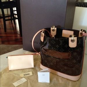 Authentic LV Cabas Ambre PM Tote Bag w/ side pouch