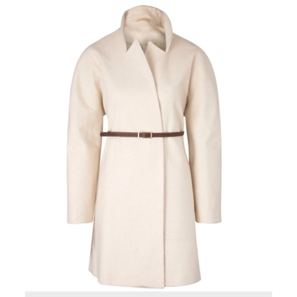 ASOS Outerwear - HOST PICK ASOS white belted dolman sleeve coat 2