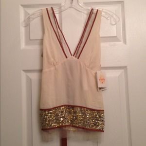 Delicate sequin blouse. Plenty by Tracey Reese