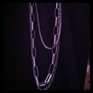 Long Silver Toned Necklace
