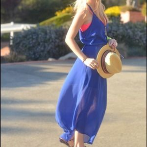 Asymmetrical hem sheer chiffon dress
