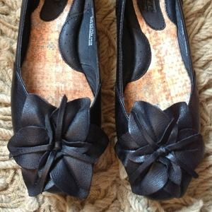 Shoes - RESERVED-Born flower toe flats