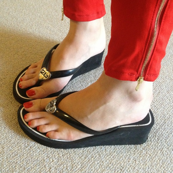 bebe reduced bebe wedge sandal from risa s closet on