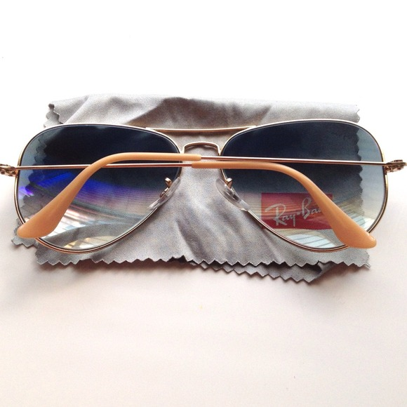Ray-Ban Accessories - Rayban gold and taupe aviator sunglasses 2