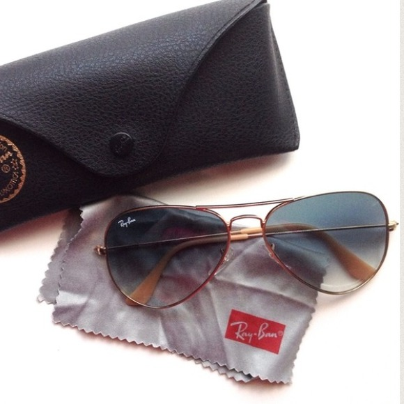 Ray-Ban Accessories - Rayban gold and taupe aviator sunglasses