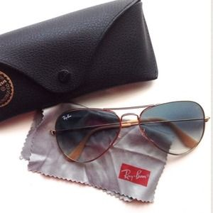 Ray-Ban Accessories - Rayban gold and taupe aviator sunglasses 3