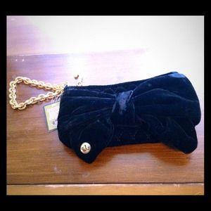 Juicy couture velvet now wristlet