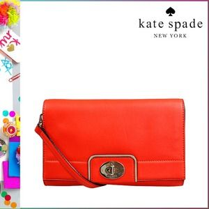🎉2X HP!🎉 Kate Spade leather cross body in flame