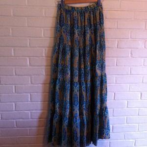 Long Tolani silk skirt