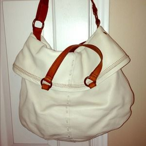 Lucky Brand white leather handbag.