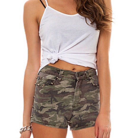 50% off Tripp NYC Denim - Tripp NYC High Waisted Camo Shorts *NEW ...