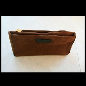 Brown Bridged Clutch