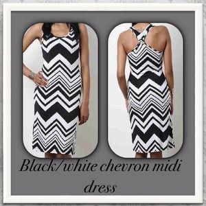 SALEPerfect chevron midi dress w/knot back