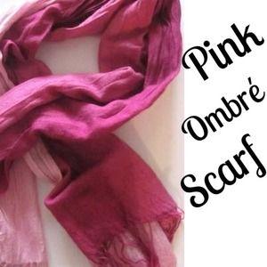 BUNDLED - Pink Ombré Scarf