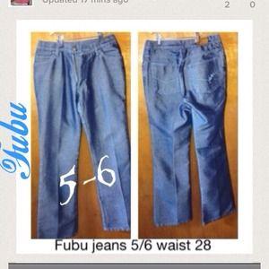 B1) Fubu jeans Size.5/6 Women 28 Solid juniors
