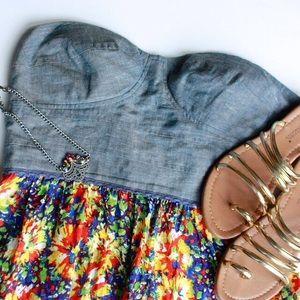 Dresses & Skirts - Bustier floral print dress