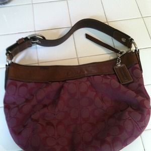 Burgundy hobo bag