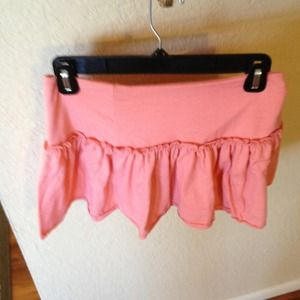 Peach colored skirt