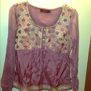 Cute Indian Top lilac