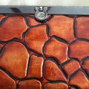 SaleMetallic orange/bronze clutch/wallet