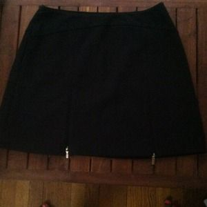 Black mini skirt.