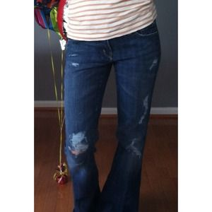 ⬇CITIZENS of HUMANITY diy distressed denim.