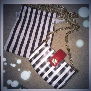 Henri Bendel Crossbody purse handbag Red Stripe