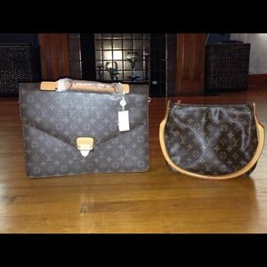 Louis Vuitton purse and briefcase