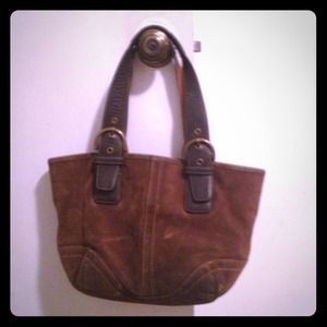 Authentic used coach leather purse