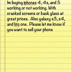 Im buying iphones, and android phones.