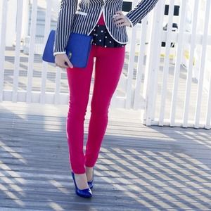 Beyond Craze Pants - Hot pink skinny jeans (jeggings)