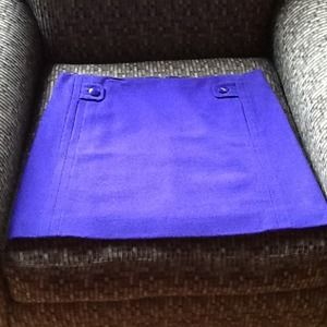 JCrew Purple Wool Mini Skirt