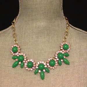 J CREW crystal petal necklace
