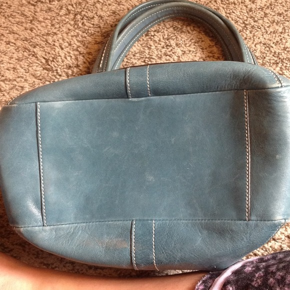 1c8532813f0 ... Coach Bags - SOLD ON EBAY Coach Leather Ergo tote blue legacy ...