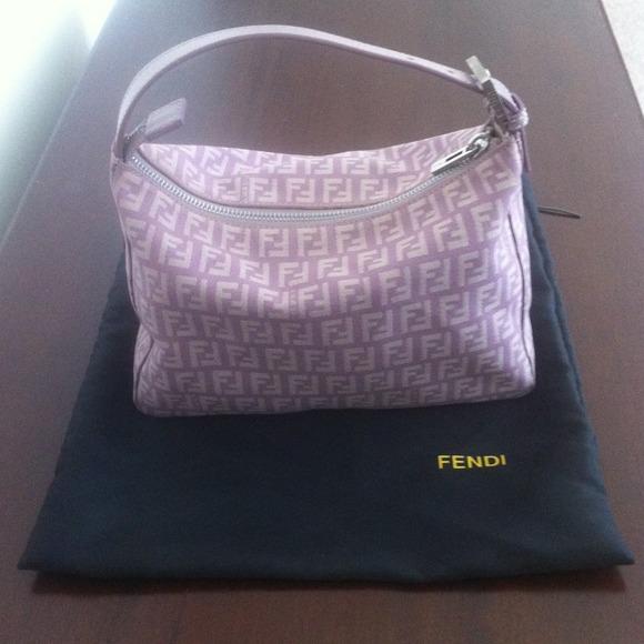 FENDI Handbags - Authentic Fendi logo Lavender Bag 7e0a032ddffa4